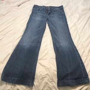 7 FOR ALL MANKIND  sz28 wide leg jeans inseam 31